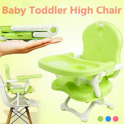 Baby Toddler Booster Feeding High Chair Adjustable Safety Seat With Harness Tray