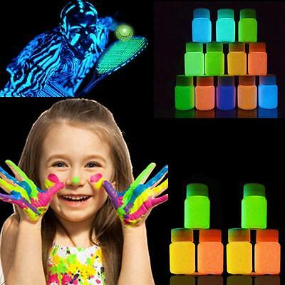 UV Neon Face Body Paint Fluorescent Light Glow Colour Bright Festival Party HQ