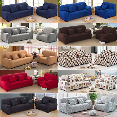 1 2 3 Seater Stretch Sofa Cover Couch Lounge Recliner Chair Slipcover Protector