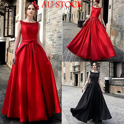 Womens Bridesmaid Long Evening Party Ball Prom Gown Cocktail Formal Dress AU