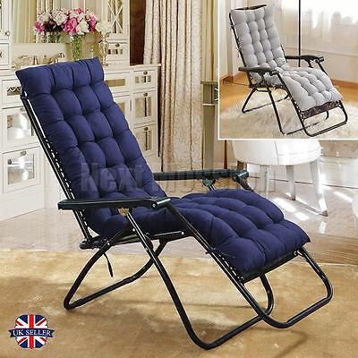 Garden Sun Lounger Cushion Pad Deck Chair Replacement Outdoor Seating Cover Home