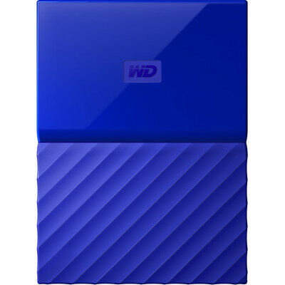 Western Digital My Passport Portable blau 2 TB, USB 3.0 Externe Festplatte HDD