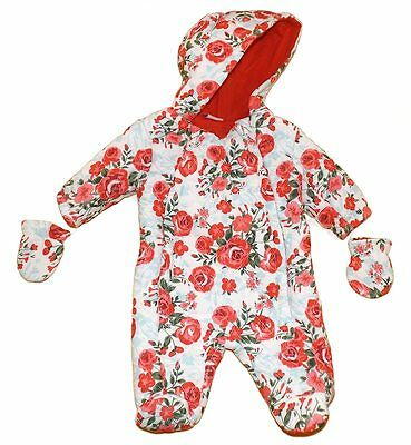 Chloe Louise Romany Style Roses Design Padded Quilted Snowsuit Pram Suit  AW'17