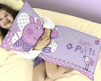 Official Licensed Peppa Pig Happy Cuddle Cushion Pillow Purple 80cm x 40cm Gift
