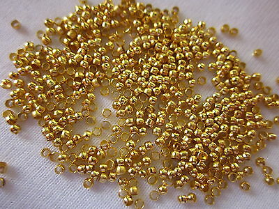 300 Gold Coloured Round Crimps 1.5mm x 1mm #340 Jewellery Making Beading Craft