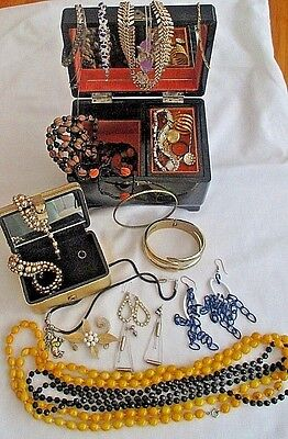 Two Jewellery Boxes With  Assorted Costume Jewellery