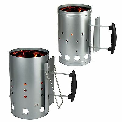 Barbecue Chimney Starter Quick Start BBQ Grill Charcoal Burner Food Lighter Coal
