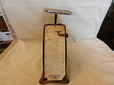 Vintage Hanson V. A. US Mail First Class Postage Scale Capacity 2.5 pounds