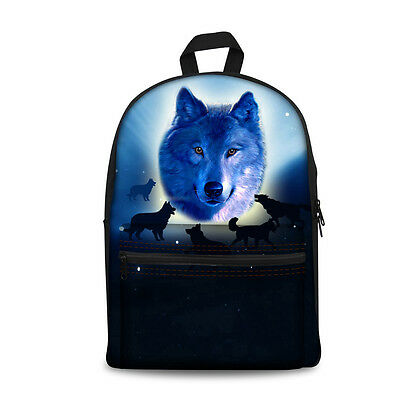 Middle School Backpacks Unique Wolf Back to School Back Pack Rucksack for Boys