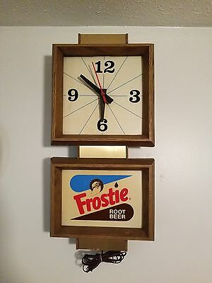 frosries root beer lighted clock