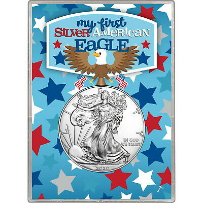 2019 Silver American Eagle BU in My First SAE Gift Holder