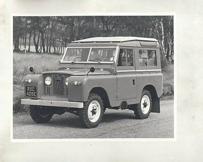 1969 ? Land Rover 88 Station Wagon ORIGINAL Factory Photograph wy0810