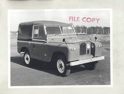 1964 Land Rover Series II 88 Basic ORIGINAL Factory Photograph wy0830