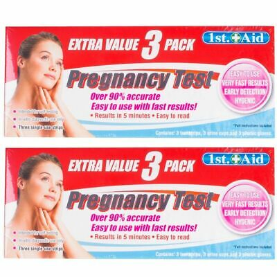 6 x Early Detection 1st Step Pregnancy Test Kit Fast Easy 5 Minute Results