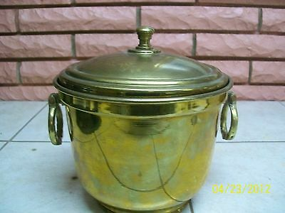 Nader Brass Ice Bucket With Lid And Handles
