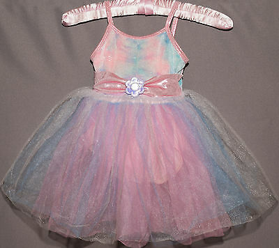 Curtain Call Dance Costume Pink Purple Blue Sparkles Tutu Dress Up Play Size XS