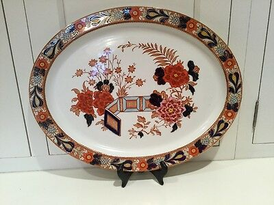 Wood & Sons Wincanton Woods Ware Imari China Large Platter Excellent 1 of 2