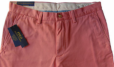 Men's POLO RALPH LAUREN Muted Red Twill Chino Pants 38x34 NWT NEW Classic Fit
