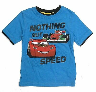 Disney Cars Boys Size 3T Toddler Blue Short Sleeve Graphic Character t Shirt New