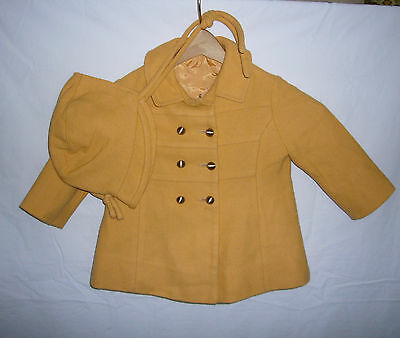 Vintage 40's Childs Wool Coat & Hat