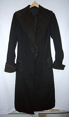 Antique Victorian Long Wool Women's Coat