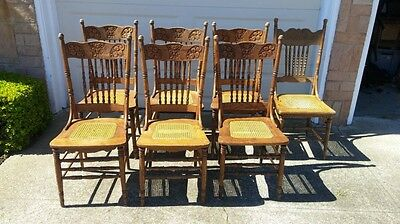 antique cane dinner chairs