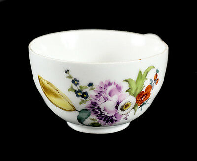 Meissen Germany Porcelain Hand Painted Cup, 19th Century, Floral Accents