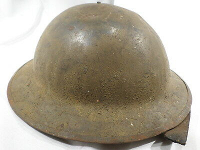 WWI VINTAGE US Army Helmet Smooth Texture