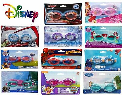 Official Disney Swimming Goggles Frozen Elsa Anna Junior Children Kids Avengers