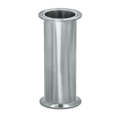 "HFS 3"" Sanitary Tri Clamp Clover Spool Pipe - 12"" Length 304 Stainless Steel"