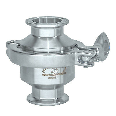 "HFS 2"" Sanitary Check Valve - One Way Flow - Tri Clamp Clover Stainless Steel"