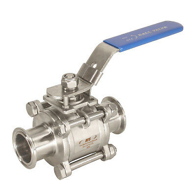 """HFS(R) 1-1/2"""" Sanitary Ball Valve - Tri Clamp Clover Stainless Steel 304"""