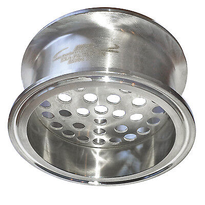 """HFS 4"""" Stainless Sanitary Filter Plate Fits Tri-Clamp Ferrule Flange"""