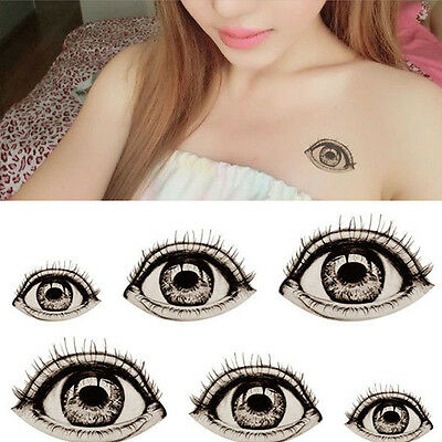 DIY Halloween Big Eye Tattoo Sticker Temporary Body Art Unisex Fake Waterproof