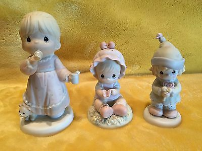 PRECIOUS MOMENTS Lot of 3 Collectible Figurines (529982) (272434) (139521)