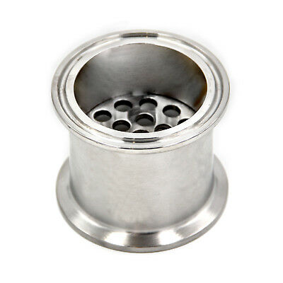 """HFS(R) 1.5"""" Stainless Sanitary Filter Plate Fits Tri-Clamp Ferrule Flange"""