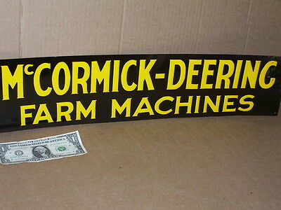 McCormick Deering - FARM MACHINES -Fence Sign -BLACK & GOLD-Not Faded-STILL GOOD