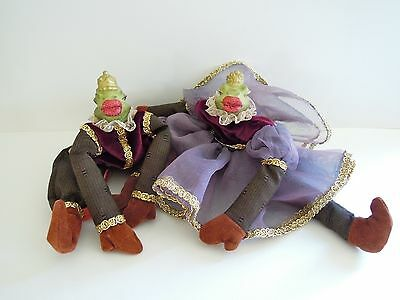 Katherine's Collection WAYNE KLESKI King & Queen FROG Bean Bag Doll Kissing Frog