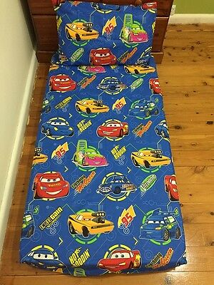 New Blue Cars McQueen Baby Cot Fitted Sheet + Junior Pillowcase