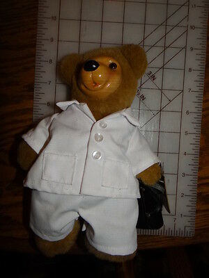 NWT 1994 DOUG DOCTOR bear ROBERT RAIKES APPLAUSE wood face PLUSH #4152