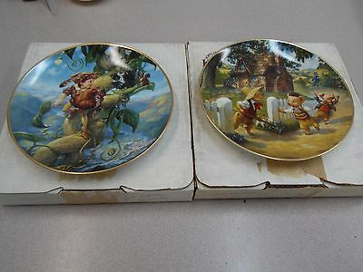 The Three Little Pigs - Jack & the Beanstalk Classic Fairy Tale Plates Knowles