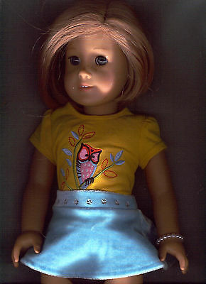 American Girl Doll  Blonde, Blue Eyes, Tagged Outfit Hair Bob Cut, Pleasant Co.