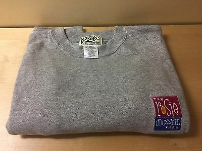 NEVER WORN ROOTS brand sweatshirt w/ embroidered Rosie O'Donnell Show logo M
