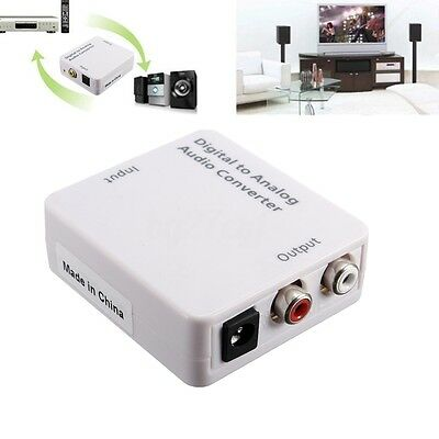 Digital Optical Coaxial Toslink SPDIF to RCA L/R Analog Audio Converter for HDTV