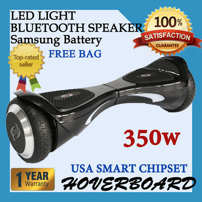 """6.5"""" Two Wheel BLACK Bluetooth Balancing Electric Scooter UL2272 Approved"""