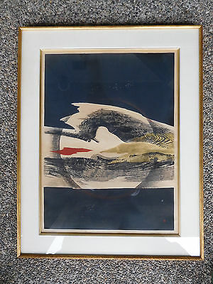 "Large 27"" Reika Iwami Woodblock Print Low Edition 2/20 Japan"
