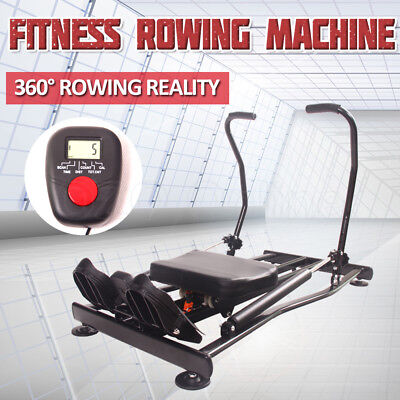 Hydraulic Exercise Rower Rowing Fitness Machine Gym Rower Abdominal Resistance
