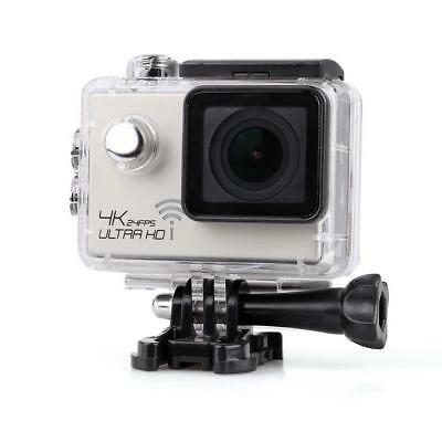 4K Ultra HD 1080P 12MP WIFI Sports DV Action Waterproof Camera Sliver