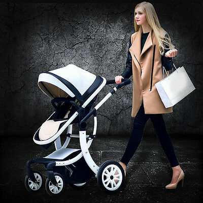 Fashion Baby Pram Buggy 3in1 Stroller Pushchair Car Seat Travel Safety System