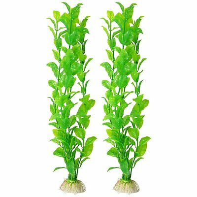 2X(2x Aquarium reservoir de poissons Aquascaping plante verte en plastique WT